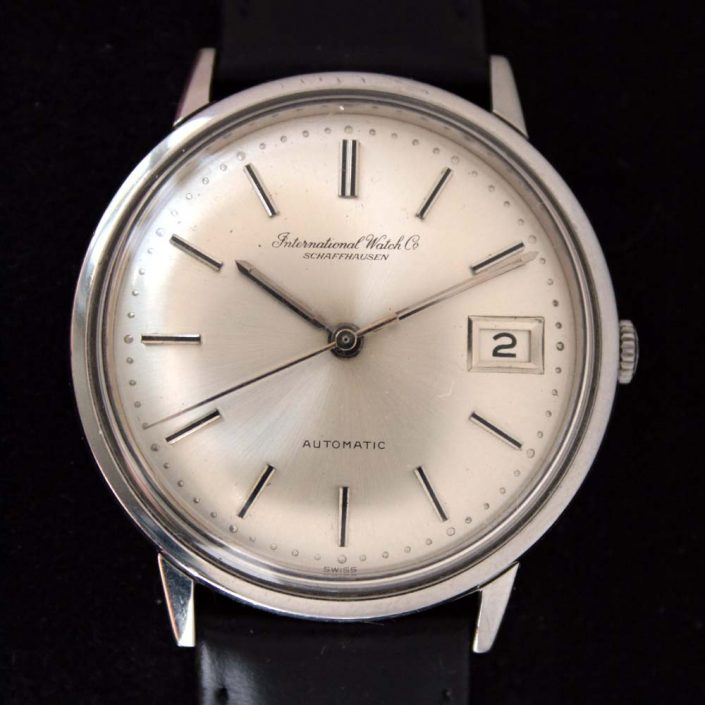 1960s International Watch Co. Schaffhausen IWC Automatic Calendar Pie-Pan Dial New Old Stock Condition
