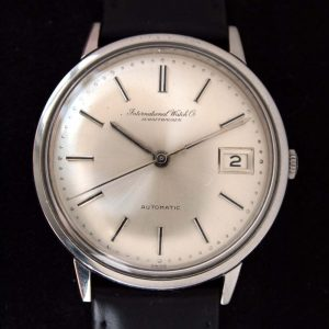 1960s International Watch Co. Schaffhausen Automatic Calendar Original Silvered Dial Cal. 8541