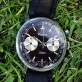 1960's Dugena Reverse Panda Tropical Chocolate Dial Large Chronograph