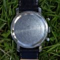 1960's Dugena Reverse Panda Tropical Chocolate Dial Large Chronograph Case-back