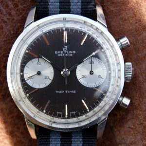1965 James Bond Thunderball Breitling Top Time Ref. 2002 Reverse Panda Dial Chronograph