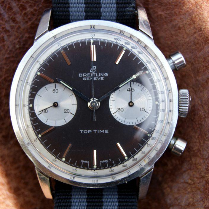 1965 James Bond Thunderball Breitling Top Time Ref. 2002 Reverse Panda Dial Chronograph