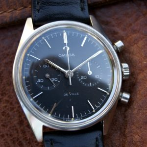 1969 Rare Omega De Ville Chronograph Cal. 860 with Original All Black Dial Ref. 145.017