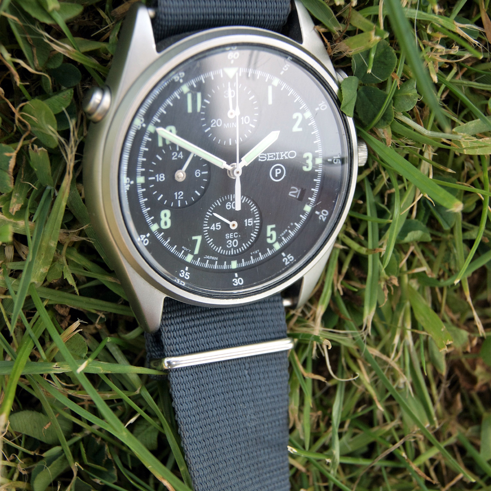 cd59eebfe34 1997 Seiko Generation 2 Issued RAF Helicopter Jet Fighter Military Pilot s  Chronograph