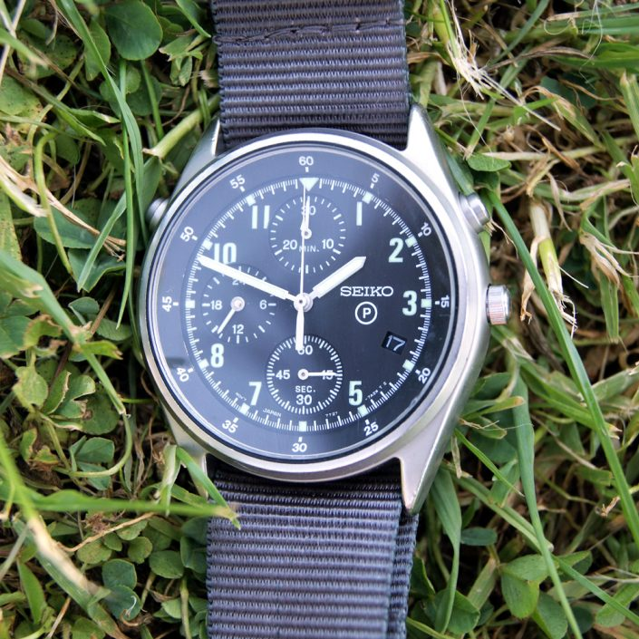 1997 Seiko Generation 2 Issued RAF Helicopter/Jet Fighter Military Pilot's Chronograph
