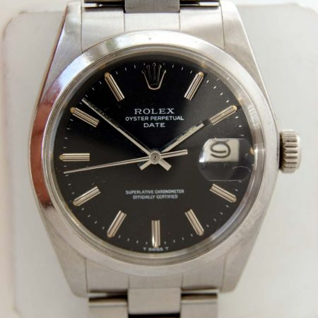 1975 Rolex Oyster Perpetual Date Chronometer Reference 1500 on Orignal Rolex Oyster Bracelet (2)