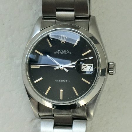 1974 Rolex Oysterdate 6694 with Original Black Dial