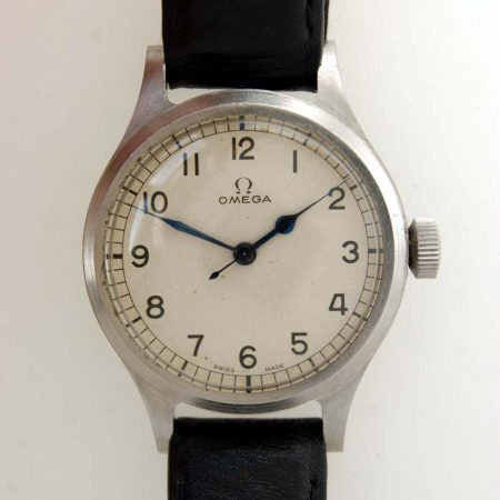 Very Rare White Dial Omega '56 RAF/Air Ministry Issued 6B/159 Military Pilot's Watch