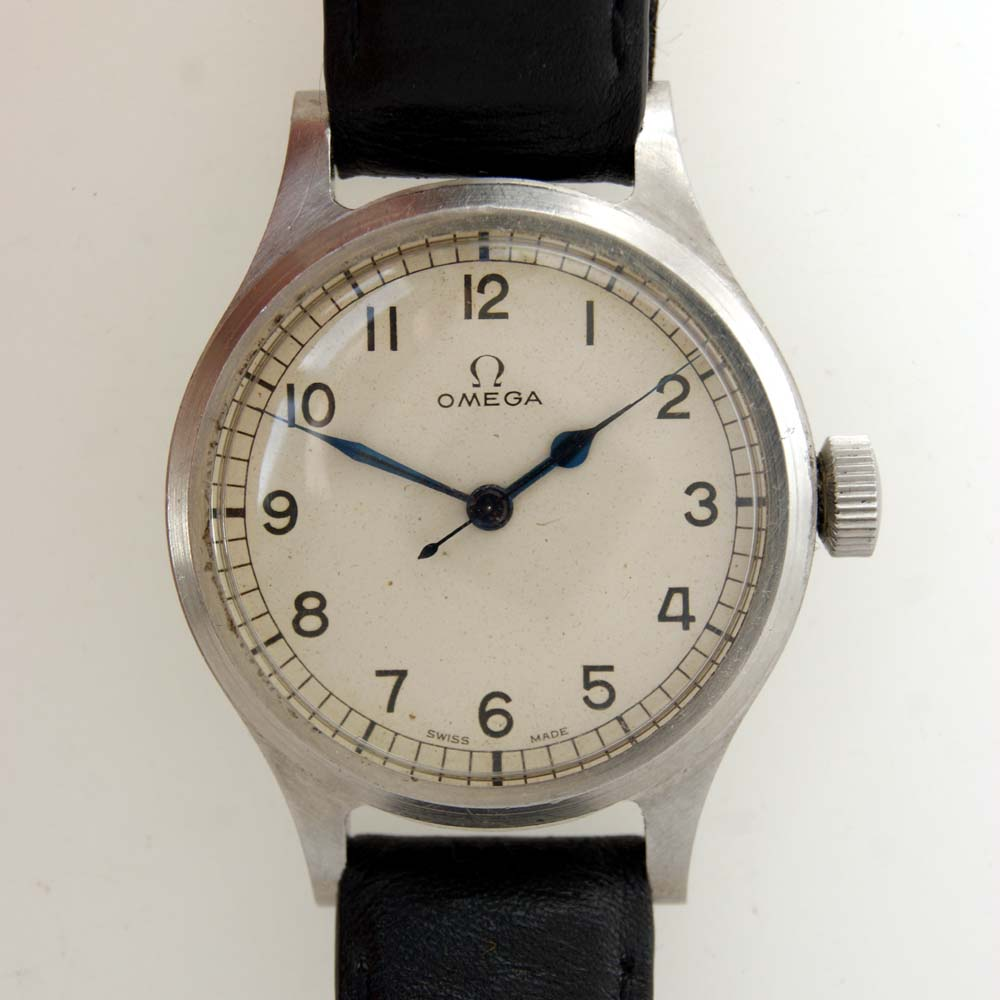 Vintage Watches For Sale >> Very Rare White Dial Omega '56 RAF/Air Ministry Issued 6B/159 Military Pilot's Watch
