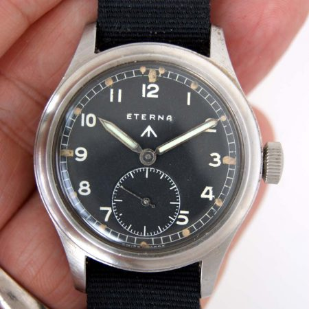 "c1943 Rare Eterna ""Dirty Dozen"" WWW British Army Issued WW2 Wristwatch"