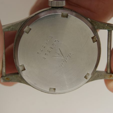 Superb c1943 WW2 Record British Army Officers Watch with Military Issue Numbers and W.W.W on Caseback