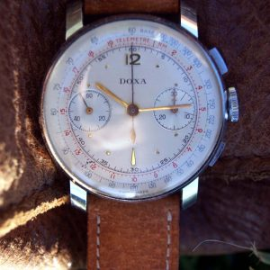 New-Old-Stock-1940s-Doxa-Chronograph-with-Ribbon-Lugs-Front-View4.jpg