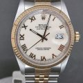 Rolex Datejust 16013 with Rare Ivory Roman Dial