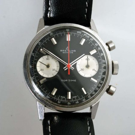 1969 Top Time Geneve Reverse Panda Dial with Red Chronograph Hand Ref. 2002-33