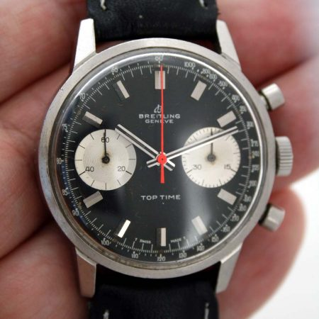 1969 Breitling Top Time Reverse Panda Dial with Red Chrono Hand Ref 2002