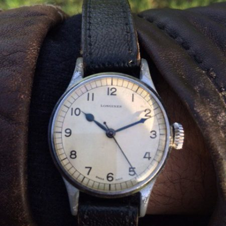 Rare 1943 WW2 Longines Military RAF Spitfire Pilot's Watch