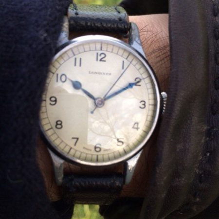 Rare 1943 WW2 Longines Military RAF Spitfire Pilot's Watch 1943