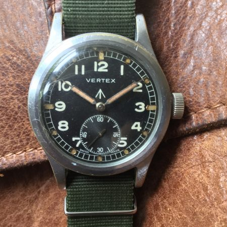Superb WW2 Vertex WWW British Military Dirty Dozen Watch