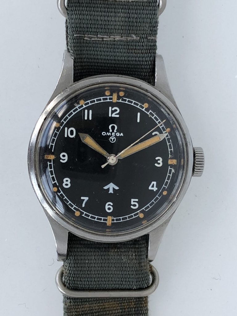 1953 Omega '53 RAF 6B/542 Fat Arrow Military Pilot's Watch