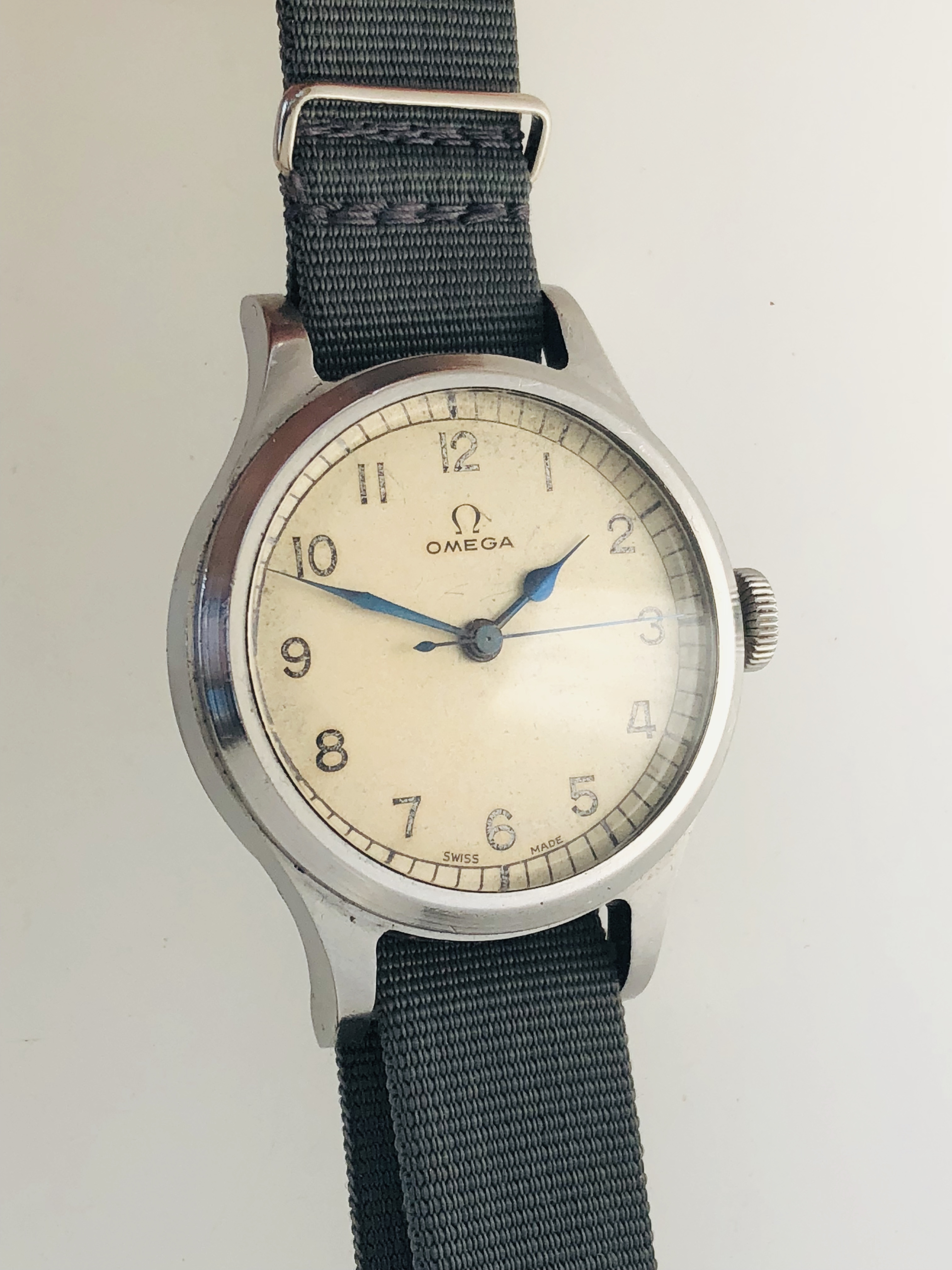What Is Stainless Steel Made Of >> Very Rare White Dial Omega '56 RAF/Air Ministry Issued 6B ...