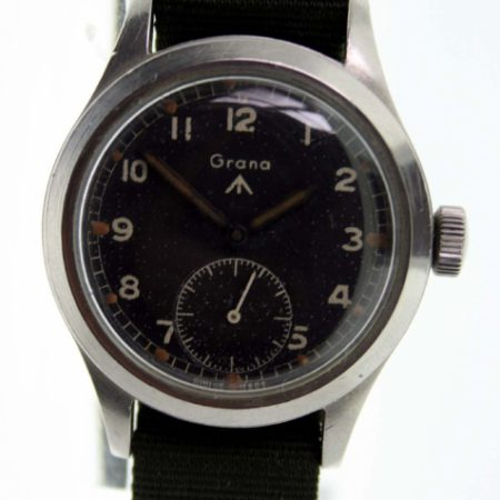 """1940s British Military Officer's W.W.W. Watch Very Rare Watch Rarest of the """"Dirty Dozen"""" Issued to the British Military in WW2. Collector's Piece in 100% Original Condition with Correct Military Markings"""