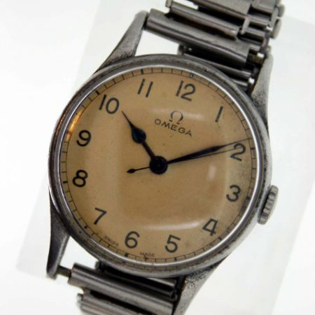 1943 WW2 Pilot's Watch with Papers and Military Issue Markings on Case-Back incl. Letter From the Original Pilot with War-Time History History On its Original Bonklip Flying Bracelet