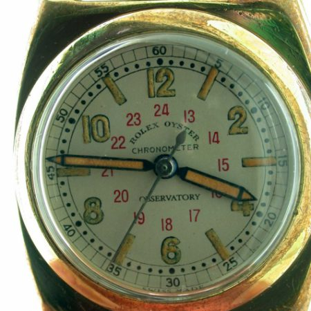 """1944 War Time """"Viceroy"""" Case  Ref 3116 18k Gold/SS Oyster Perpetual Chronometer Observatory. High Grade Rolex Movement Timed to 6 Positions and Temperature with Micro-Rotor and Patented Super Balance"""