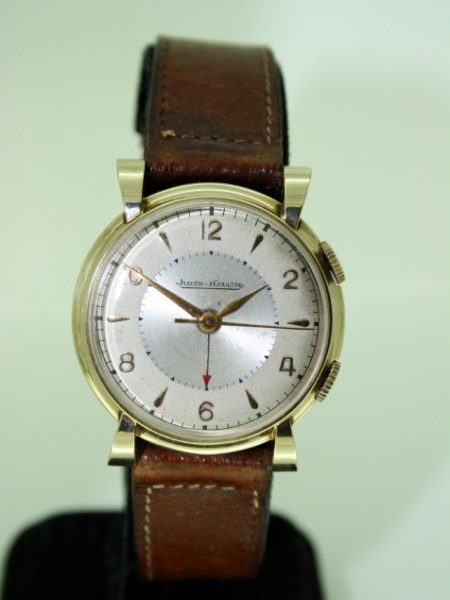 "1953 First ""Memovox"" Alarm Wristwatch USAF Military Presentation Watch From End of the Korean War Beautiful Case with Ribbon Lugs Jaeger LeCoultre Manual Winding Movement"