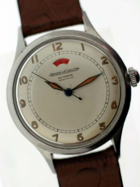 1954 Reserve de Marche Automatic Fabrique en Suisse with Original Finish Dial with Red Power Reserve Window and Original Hands with Blue Sweep Seconds Hand