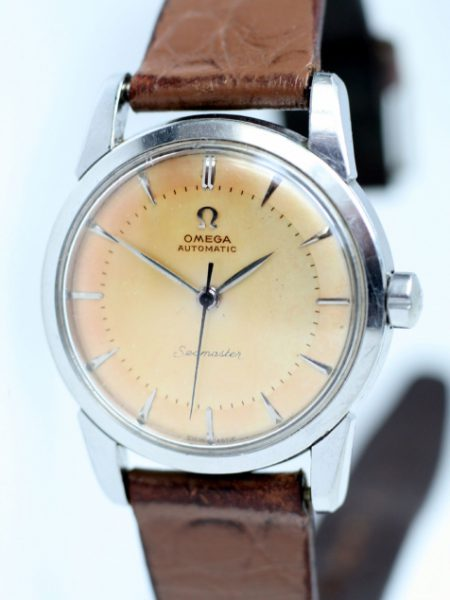 1954 Seamaster Automatic with Original Two-Tone Sun-bleached Dial Snap-Back Steel Case with Beefy Lugs Cal. 354 Movement 100% Original Condition. Original Crown