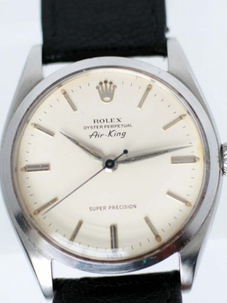 1958 Air King Super Precision Oyster Perpetual Automatic with Original Dial and Rolex Signed Oyster Case with Original Screw-Down Rolex Signed Crown. On Vintage Strap and Buckle