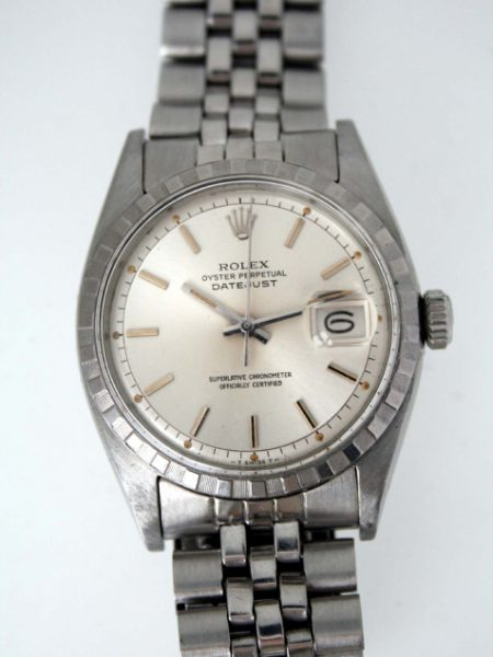 """1958 Vintage """"Ovettone"""" Rolex Datejust Oyster Perpetual Chronometer Ref 6605 with Original Dial and Beautifully Aged Orignal Lume Comes on its Original Rolex Jubilee Bracelet in Mint Condition"""