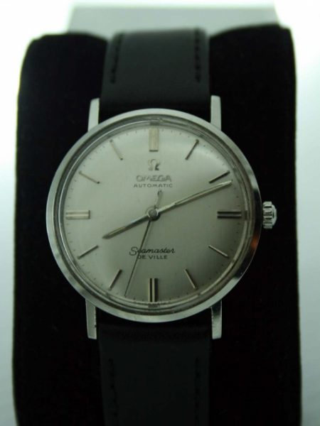 1960 Automatic Seamaster De Ville with All Stainless Steel One-Piece Case with Seamoster Logo Original Omega Signed Crown