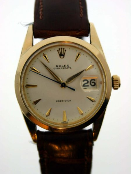 1960 Rare 18k Yellow Gold and Steel Oysterdate Ref. 6694 All Original Rolex Hands