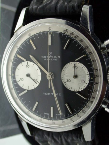 1960s Geneve Top  Time Chronograph in Fantastic Condition with Black Dial