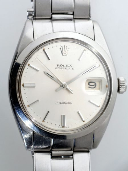 1962 Oysterdate Precision Ref. 6694 in Screw-Back Back Oyster Stainless Case Steel in Mint Condition on its Original 1962 Rolex Oyster Bracelet