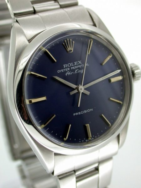 1963 Air King Oyster Perpetual With Rare Original Deep Blue Rolex Dial Mint Condition As New!