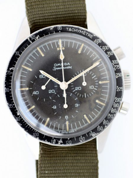 "1964 ""Ed White"" Speedmaster Ref. 105.003 Pre-Moon Pre-Professional No Crown Guards Straight Lugs Case Applied Logo Dial"