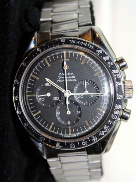 1965 Speedmaster Professional Moonwatch Ref.105.012 Worn by Neil Armstrong with Original Shop Box and on its Original Rare Omega Expandable Bracelet Ref. 1506 Also Dated 1965