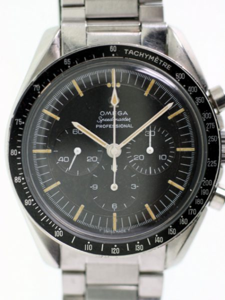 "1965 Speedmaster Professional ""Pre-Moon"" Chronograph Cal. 321 Ref. 105.012-65 on Original 1039 Omega Steel Bracelet with 516 Ends First Year of Professional Model with Beautiful Matching Lume"