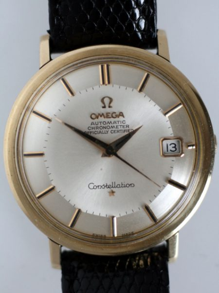 1966 Constellation Calendar Automatic 561 Chronometer with Original  Finish Pie-Pan Dial in Large Gold Capped and Stainless Steel Case with Hidden Crown