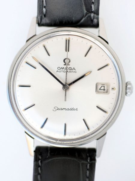 1966 Seamaster Automatiic with Date and Original Dial in As New Old Stock Superb Condition with Signed Omega Glass and Signed Omega Buckle