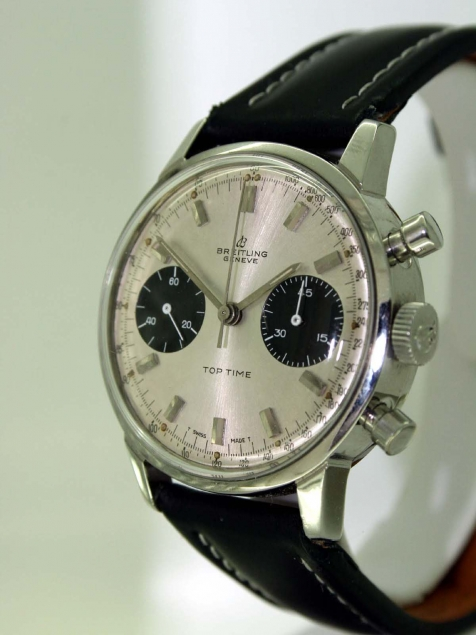 1969 Geneve Top Time Chronograph With Original Silver