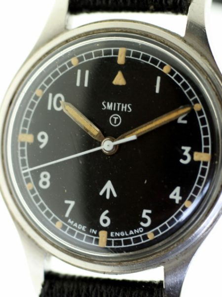 1970 British Army Military Issued Watch with Military Issue Markings W10 6645 on Case-Back and Broadarrow with Original MOD Dial Dating from 1970 in Amazing Condition