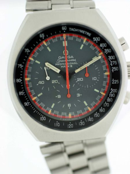 1970 Speedmaster Professional Mark II c.861 Ref.145.014 with Exotic Racing Dial Hardly Worn and in Near New Old Stock Condition One Owner from New on Original Bracelet