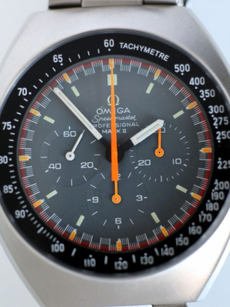1973 Speedmaster Professional Mark II with Exoctic/Racing Dial cal.861 Ref.145.014 in Mint Condition on New Old Stock Omega Bracelet Bracelet