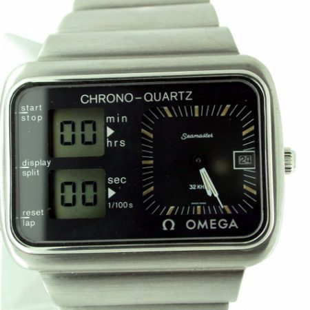 """1977 Chrono-Quartz Olympic """"Albatros"""" on Original Omega Steel Integrated Bracelet. Mint Condition and Fully Serviced by Omega. Still Under Guarantee And Comes With Omega Certificate"""