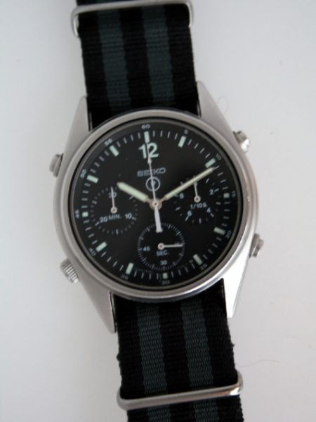 1988 Generation 1 British Military Issued Chronograph Issued to Royal Navy and Army Air Corps Helicopeter Pilots for use in the 1st Gulf War Superb All Orignial Condition Fully Functional