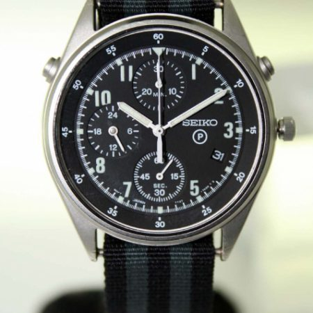1995 RAF/Royal Navy Helicopter Pilot's Chronograph Watch 2nd Generation Model British Military Issued with Broadarrow and Issue Numbers 6645-99-8149181-2190/95 on the Case-Back