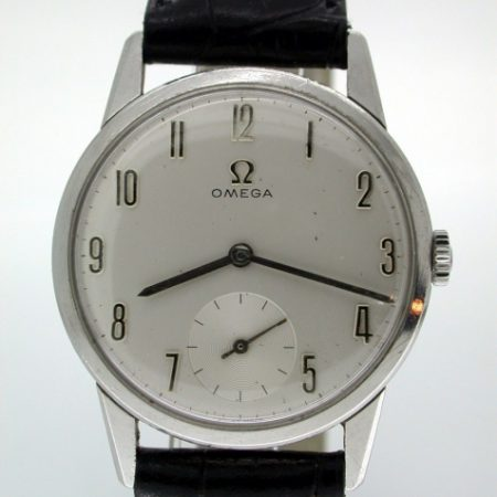 '30MM' Manual Winding Caliber 269 in Steel with Silvered Elongated Numbers